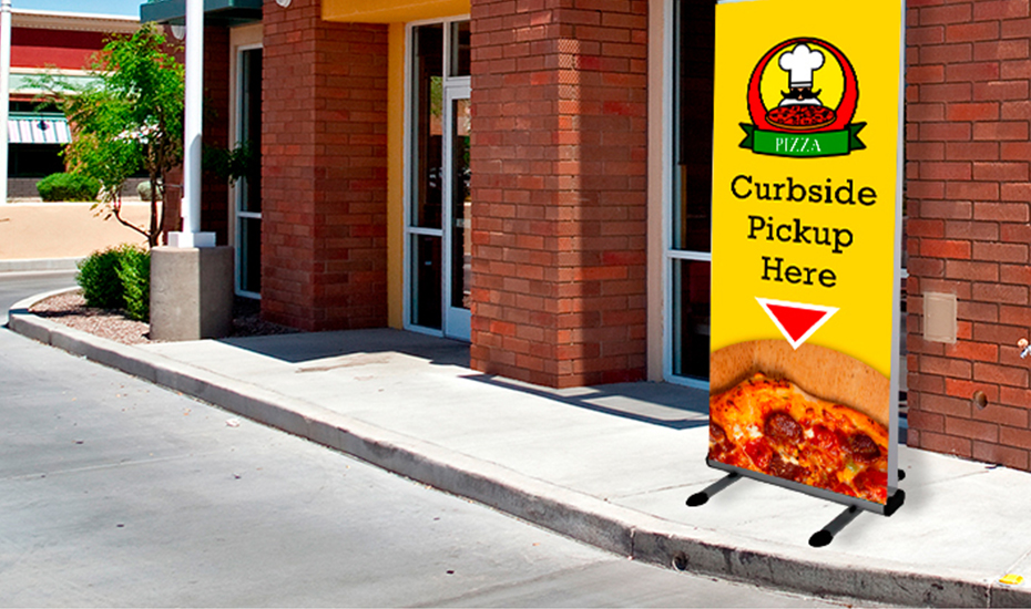 covid curbside signs and banners