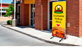 Curbside Pickup Banner Stand